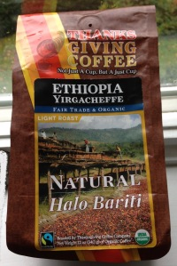 Thanksgiving Coffee bean package of Ethiopia Yirgacheffe