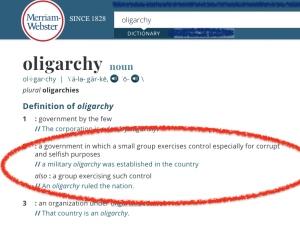 define oligarchy
