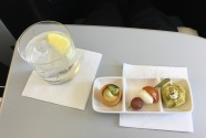Aer Lingus appetizer trio served in Business Class
