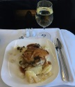 Aer Lingus main meal entree served in Business Class