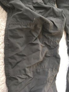 Columbia Silver Ridge pants articulated knee detail