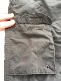 Columbia Silver Ridge pants cargo pocket detail Velcro
