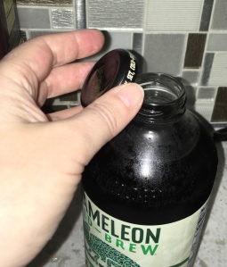 Coffee bottle with lid off