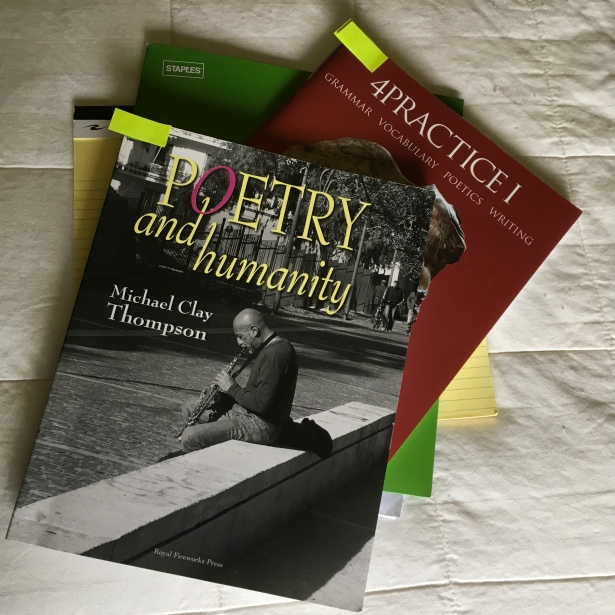 Textbooks including Poetry & Humanity by Michael Clay Thompson from Royal Fireworks Press