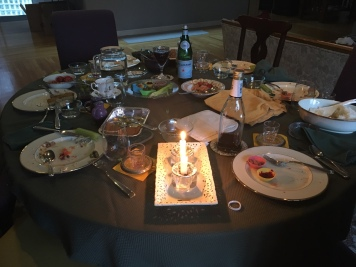 Seder in a Box Larry Levine 2020 pandemic table
