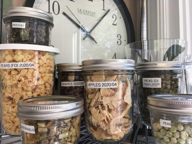 Food storage in use jars