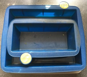 Smartware blue silicone brownie and bread pans