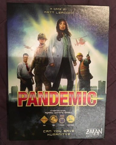 Pandemic board game box lid