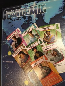Character cards describing different roles in Pandemic game