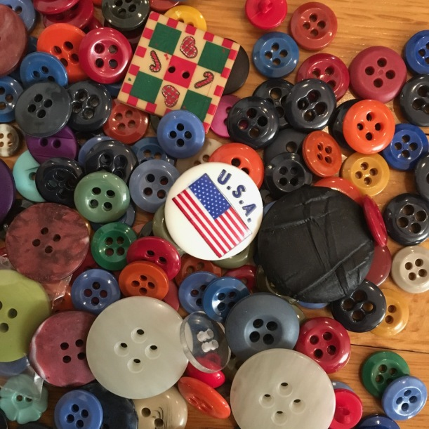 button sewing notions in many colors, shapes & sizes