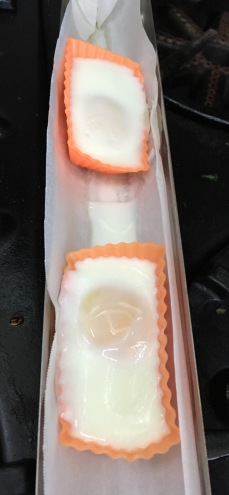 oven poached eggs in silicone cups in parchment lined goSun Sport tray