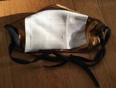 Harlow & Fox silk mask with homemade cotton insert