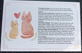 cat hot water bottle instructions pg 1