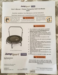 JumpSport 550fi mini trampoline user manual