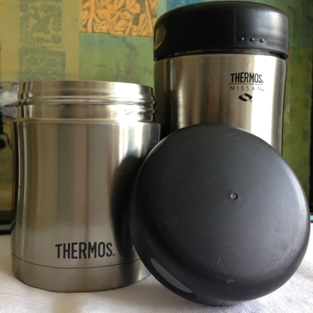 Thermos insulated food jars, 10 and 16 oz