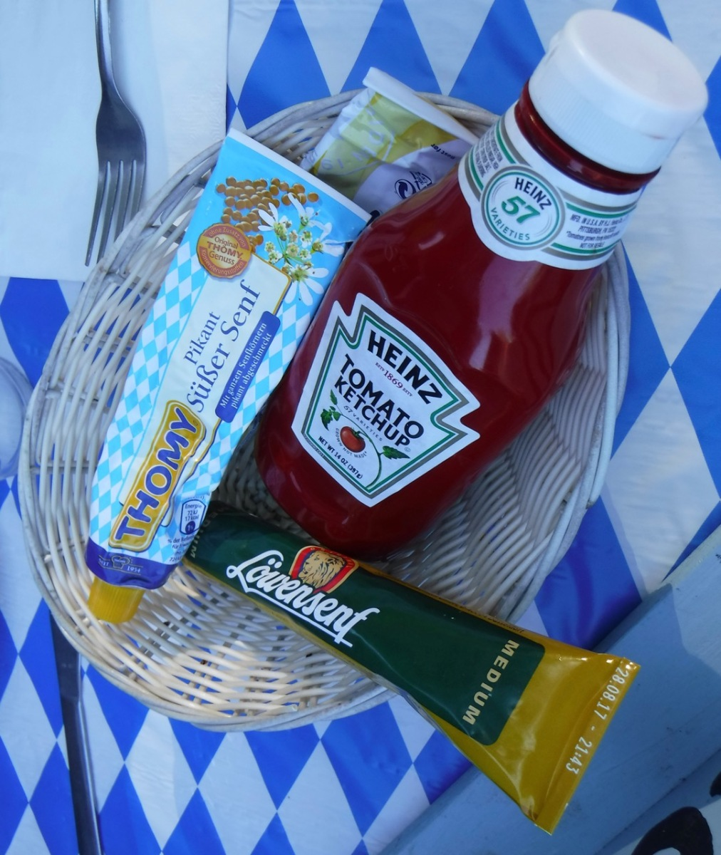 CLV Waldsee food condiments at Oktoberfest party