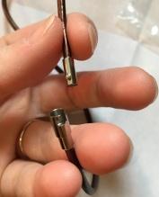Close up of Bracelet Street magnetic necklace clasp nubbin end