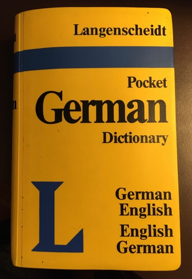 Book cover Langenscheidt pocket German dictionary
