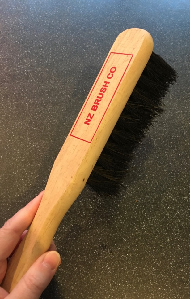 NZ Brush Co bannister brush used for sweeping up kitchen crumbs