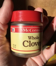 McCormick Whole Cloves in half height plastic bottle, 0.62 oz