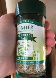 Frontier Marjoram in round glass bottle, 0.4 oz