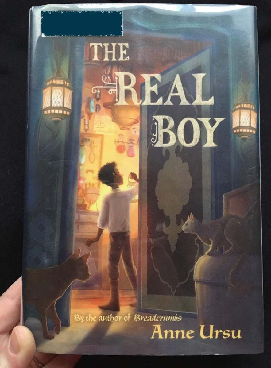 Cover of hardback copy of The Real Boy by Ursu