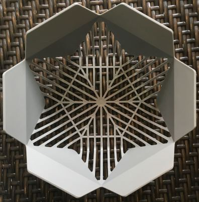 Fruit washing basket included with appliance-top view