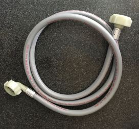 appliance hose with right angle connection on one end