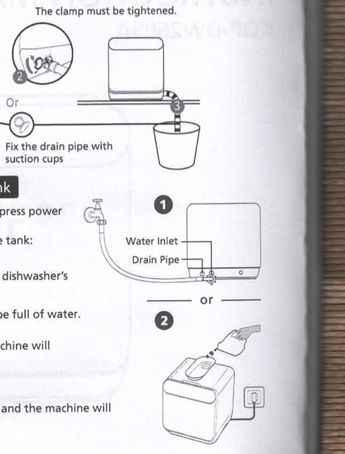 Quick user guide on first page of appliance manual
