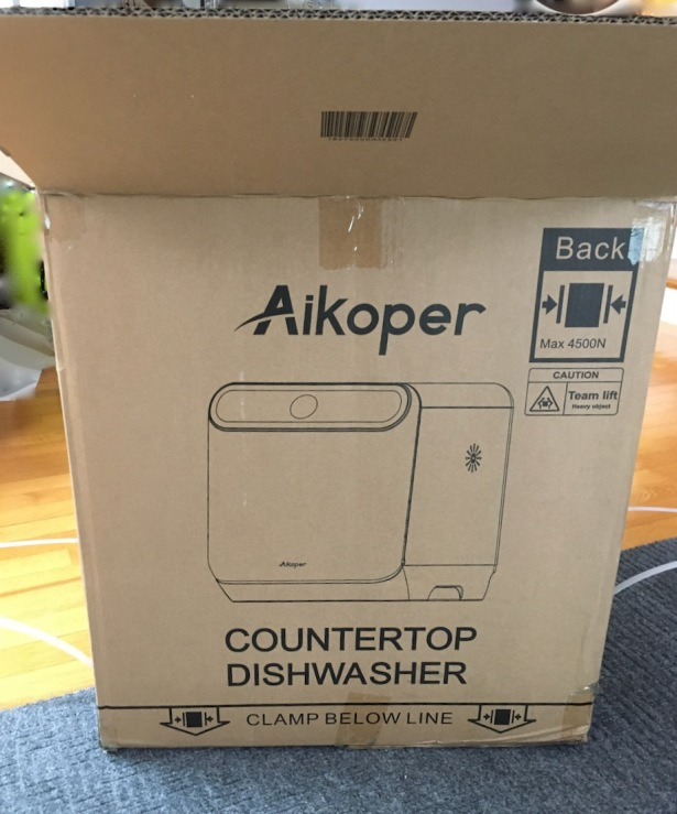 Carboard shipping box for compact dishwasher
