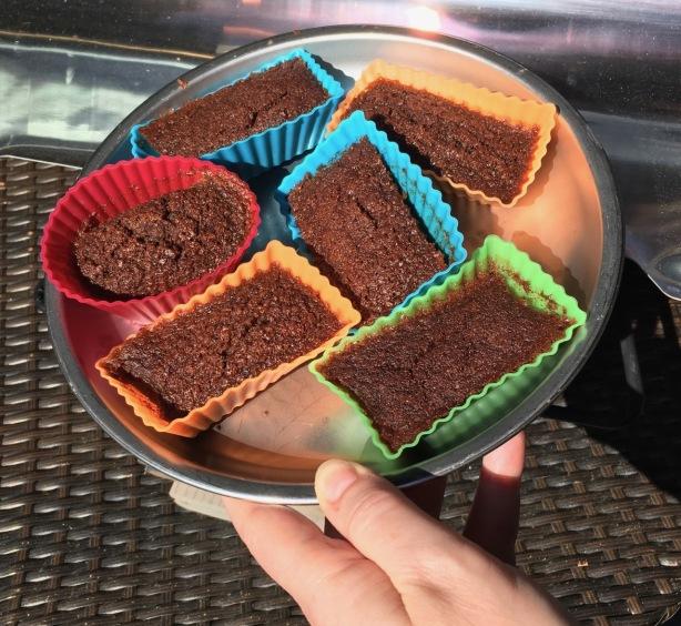 GF chocolate mug cake recipe mini cakelets on plate - 1