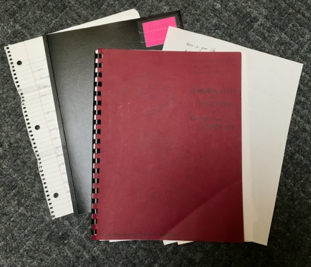 Hand written and self-bound documents